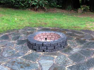 Fraser Valley Landscaping Stone Fire Pits Construction