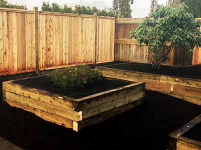 Fraser Valley Landscaping Raised Flower Beds Construction